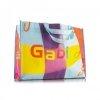 Cabas publicitaires bi colore polyester 600d Couleur:bleu surf