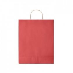 Trousse de toilette en PVC transparent Paulo Couleur:Rouge