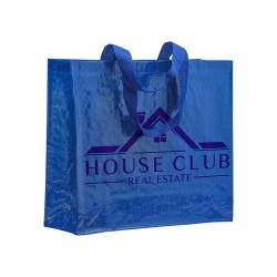 Shopper avec soufflet  Couleur:Blanc